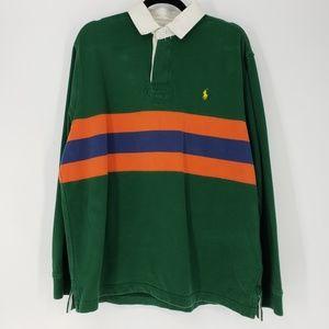 Polo Ralph Lauren   Striped Rugby Polo Shirt - LRG